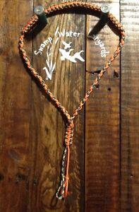 Hand made Turkey / Deer / Duck / Predator Call Paracord Lanyard (orange/camo)