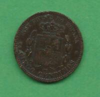 Monnaie Espagne - Alfonso XII - 5 centimos 1879 OM - KM 674