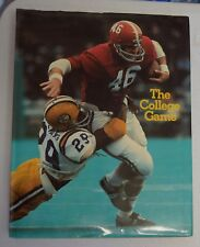 THE COLLEGE GAME A FULL COLOR PICTORAL OF COLLEGE FOOTBALL 1974 HC DJ BX45