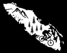 VANCOUVER ISLAND MOUNTAIN BIKER DECAL-WITH MOUNTAINS & TREES