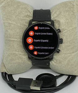 Fossil Gen 4 Digital HR Leather Strap Digital Dial Genuine Smart Watch FTW Model
