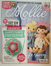 Mollie Makes Style Savvy Crochet Flower Pincushion # 66 July 2016 FREE SHIPPING