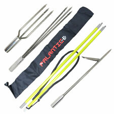 Spearfishing 5' Fiber Glass Travel 2piece Hawaiian Sling Pole Spear 3 Tips Set