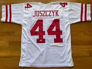 49ERS KYLE JUSZCZYK SIGNED WHITE JERSEY BECKETT BAS WITNESS COA #WP35988