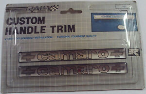 NOS Vintage Camaro Custom Handle Trim Distinctive Custom Label
