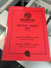 MG Magnette ZA ZB Parts Manual Catalogue Service Repair Technical