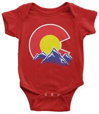 Colorado Mountain Infant Bodysuit State Flag Denver