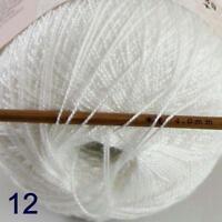 Thread No.8 Cotton Crochet Hand Yarn Craft Tatting Knit Embroidery 50g/400y 12