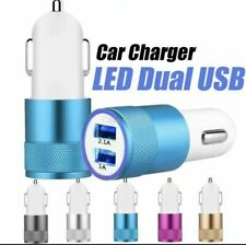 New USB Car Charger Adapter Plug 3.1A Fast Charging Universal Dual LED USB Port