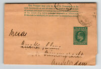 Trinidad 1903 Postal Wrapper to Netherlands / Address Stratched Out - Z13713
