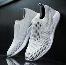 US-8 Men's Flat Athletic Breathable Pull On Mesh Loafers Running Sneaker Shoes