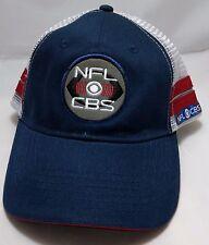 NFL on CBS snapback hat cap adjustable trucker mesh football TV blue white