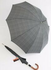 Pierre Cardin gro�Ÿer Regenschirm Stockschirm  Automatik schwarz grau 01 Herren