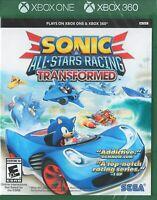 Sonic & All-Stars Racing Transformed Microsoft Xbox 360/ONE Brand New