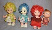Lot of 4-Vintage Dolls(3 Are EUGENE Li'l Sherbet Fruit Scented)Made in Hong Kong