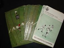 Full set of Fulham 1967-68 home programmes - 27 in all