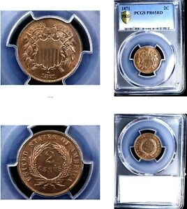 1871 2C PR65RD PCGS-Two Cents---