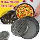 Nonstick Coating Carbon Steel Pizza Baking Pan Mesh Crisper Tray with Holes US