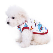 Soft Dog Pajamas Cartoon 100% Cotton Soft Clothes Pet Puppy Jumpsuit Apparel