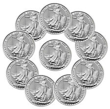 2017 Great Britain 2 Pound 1 oz. Silver Britannia Lot of 10 SKU43884