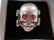 Crafted/Custom Made Ring - Well Made Sterling Silver Skull Ring - Artisan