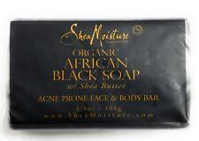 Shea Moisture African Black Soap Facial Bar Soap, 3.5 Ounce New Acne Prone Skin