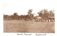 .RARE 1909 INGLEWOOD SPORTS GROUND, QLD REAL PHOTO POSTCARD.
