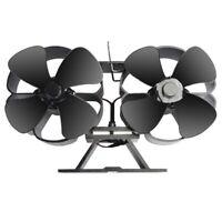 1X(Ventilateur de Petite Taille à 8 Lames pour PoêLe à Bois Double Motors,V N7P4