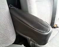 BLACK PREMIUM LEATHERETTE SEAT ARMREST COVER FOR PEUGEOT PARTNER VAN NEW