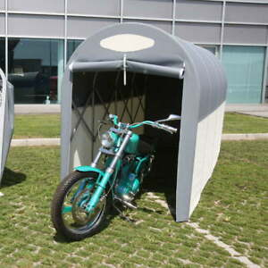 Motobox a Tunnel Copertura Box in PVC per Moto Scooter - 270x120xh155 cm/Grigio