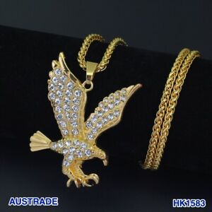 New fashion Eagle Pendants Necklaces Hip hop Jewelry Chain 75cm