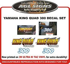 YAMAHA KING QUAD 300 4WD REPRODUCTION DECAL SET