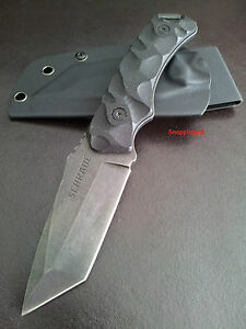 Schrade Tactical Survival Tanto SCHF15+ Kydex Sheath Military Hunting Camp Knife