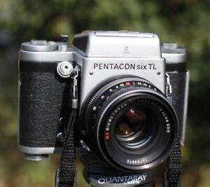 Pentacon Six TL 6x6 medium format film camera + Biometar 80mm f2.8 Zeiss lens