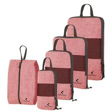 5 Set Compression Packing Cubes Expandable Travel Luggage-Organizer Set