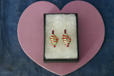 + Hooks In Display Gift Box Beautiful Murano Glass Earrings 3.5 Cm. Long
