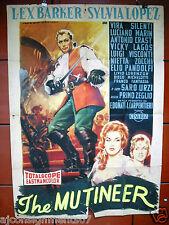 Il Figlio del Corsaro Rosso (Lex Barker) Italian 2F Movie Poster 1950s