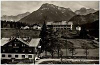 Vorderriß Bayern alte Postkarte ~1950/60 Gasthof Post mit Blick gegen Karwendel