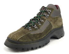 Prada Men's Shoes Size 5.5 US Suede Lug Sole Lace Up Hiking Boots Green