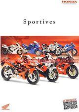 HONDA CBR 600 900 RR 1100 XX VFR 800 VTR 1000 Firestorm SP2 Brochure Moto 2003