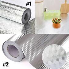 Kitchen Cabinet Oil-proof Aluminum Foil Wall Sticker Self Adhesive Wallpaper US