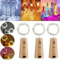 2M 20LED Powered Wine Bottle Stopper Cork Fairy String Light Garden Decors