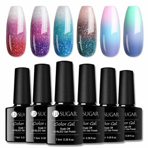 UR SUGAR 7.5ml Thermal Color Changing UV Gel Polish Soak Off Nail Art Varnish
