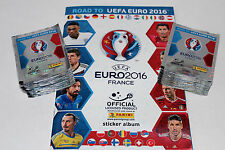 PANINI road to UEFA EURO 2016 FRANCE STICKER – 100 cartocci packets + album, RARE!