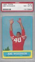 1963 Topps football card #141 Abe Woodson, San Francisco 49ers PSA 8