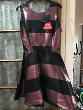 ladies Glitter Black Pink ? dress  by Very Size 12 New beautiful