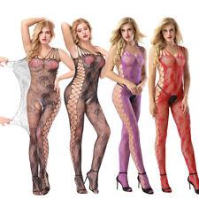 Women Sexy Lingerie Bodystockings Underwear Elastic Plus Size Fishnet Sleepwear