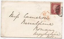 * 1855 RUGBY TO BONAW ARGYLL COVER RED M/NR IN CIRCLE TPO GRAND NORTHERN RAILWAY