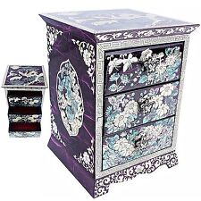 Jewelry Organizers Jewelry Boxes Mother Of Pearl Women Gift Items HJD301Purple