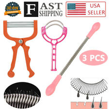 3PCS Facial Hair Spring Remover Bend Epilator Stick Hair Removal Threading Tool